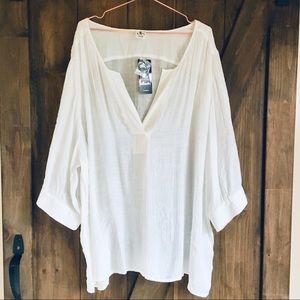 White Plus Size blouse NWT